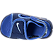 Top view of Boys' Toddler Nike Sunray Adjust 4 Sandals in Binary Blue/Still Blue/Comet Blue