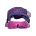 Back view of Girls' Toddler Nike Sunray Adjust 4 Sandals in Hydrangeas/Fire Pink/Comet Blue