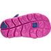 Bottom view of Girls' Toddler Nike Sunray Adjust 4 Sandals in Hydrangeas/Fire Pink/Comet Blue