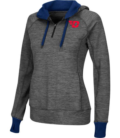 Women's Stadium Dayton Flyers College Double Back Half-Zip Jacket