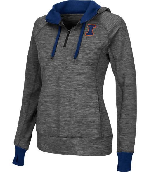 Women's Stadium Illinois Fighting Illini College Double Back Half-Zip Jacket