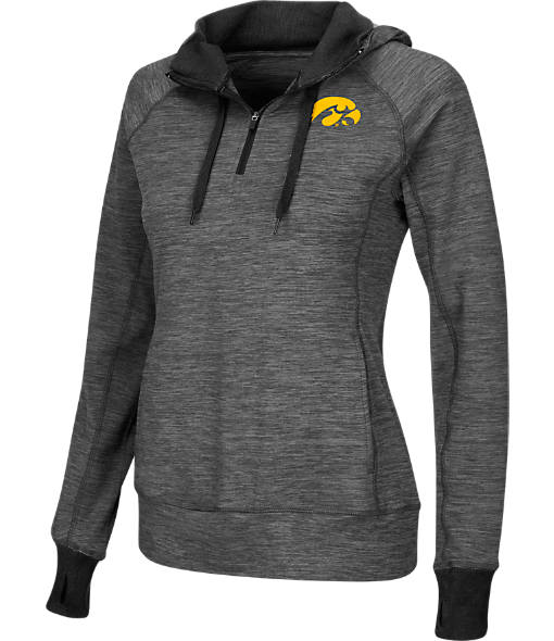 Women's Stadium Iowa Hawkeyes College Double Back Half-Zip Jacket