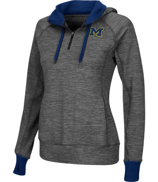 Women's Stadium Michigan Wolverines College Double Back Half-Zip Jacket