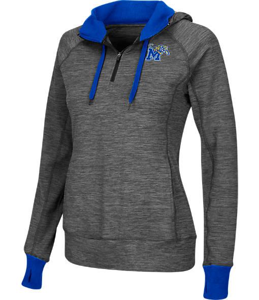 Women's Stadium Memphis Tigers College Double Back Half-Zip Jacket