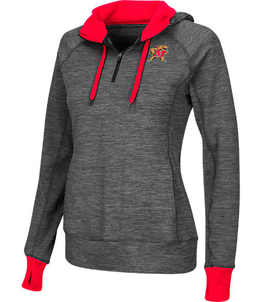 Women's Stadium Maryland Terrapins College Double Back Half-Zip Jacket