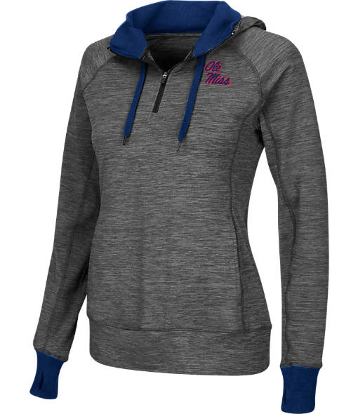 Women's Stadium Ole Miss Rebels College Double Back Half-Zip Jacket