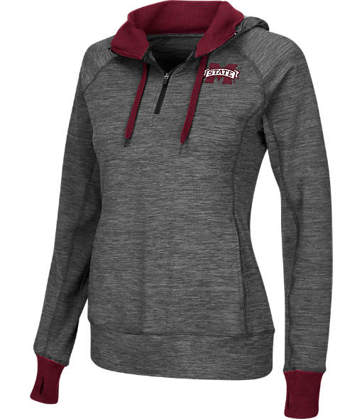 Women's Stadium Mississippi State Bulldogs College Double Back Half-Zip Jacket