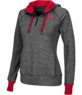 Women's Stadium Oklahoma Sooners College Double Back Half-Zip Jacket