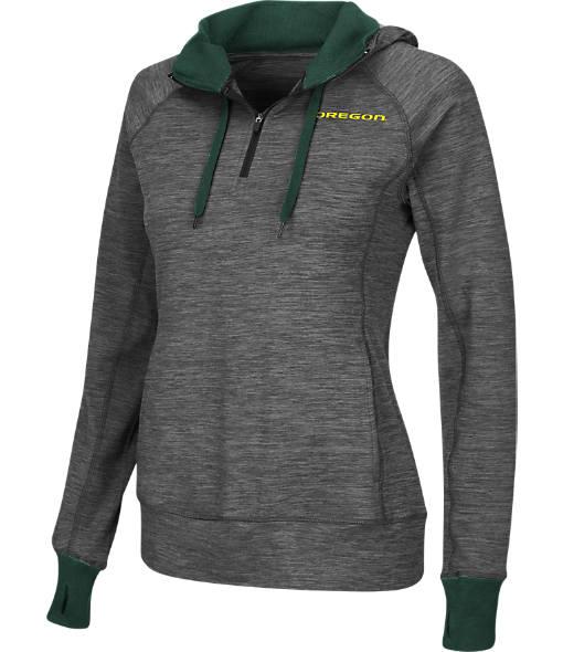 Women's Stadium Oregon Ducks College Double Back Half-Zip Jacket
