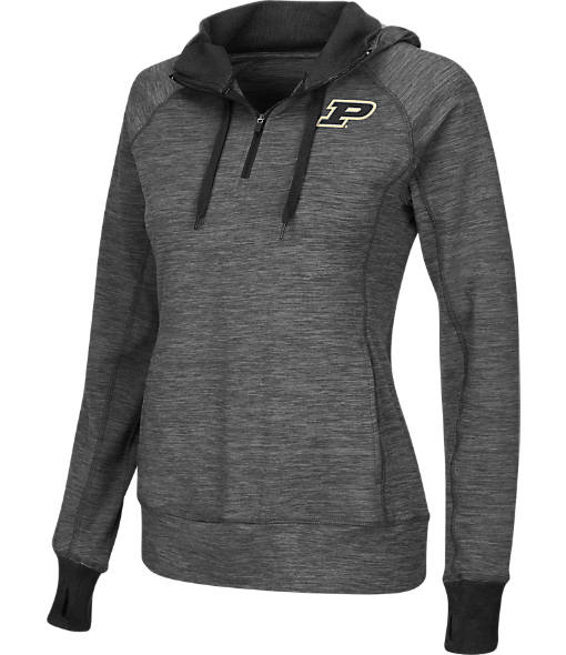 Women's Stadium Purdue Boilermakers College Double Back Half-Zip Jacket