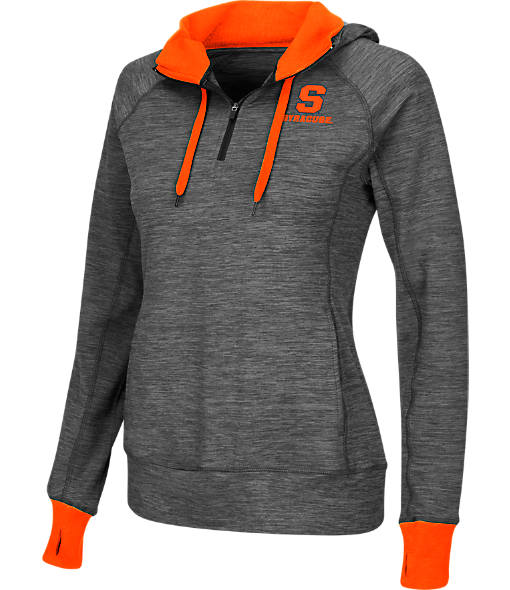 Women's Stadium Syracuse Orange College Double Back Half-Zip Jacket