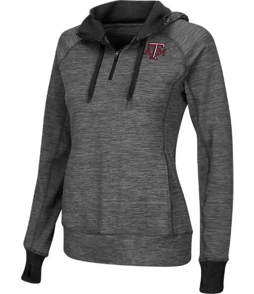 Women's Stadium Texas A&M Aggies College Double Back Half-Zip Jacket