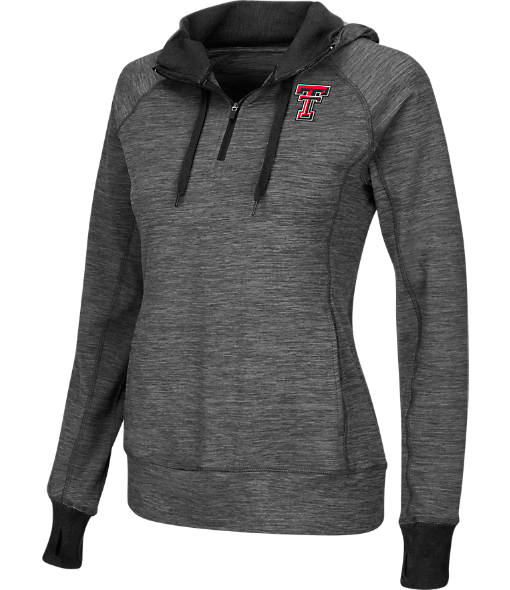 Women's Stadium Texas Tech Red Raiders College Double Back Half-Zip Jacket