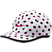 Front view of Kids' Nike Graphic Featherlight Cap in White/Hyper Pink Print
