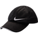 Front view of Girls' Nike Micromesh Ball Cap in Black/Silver
