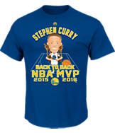 Men's Majestic Golden State Warriors NBA Stephen Curry MVP Emoji Awards T-Shirt