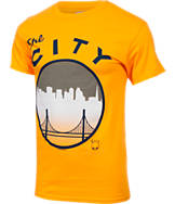Men's Majestic Golden State Warriors NBA Full Color Skyline T-Shirt