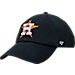 Front view of '47 Houston Astros MLB Clean Up Adjustable Back Cap in Team Colors