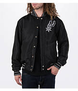 Men's JH Design San Antonio Spurs NBA Reversible Zig Zag Jacket