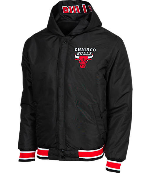 Men's JH Design Chicago Bulls NBA Reversible Zig Zag Jacket