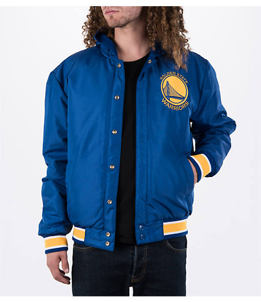 Men's JH Design Golden State Warriors NBA Reversible Zig Zag Jacket