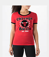 Women's New Era Chicago Bulls NBA Vintage Ringer T-Shirt