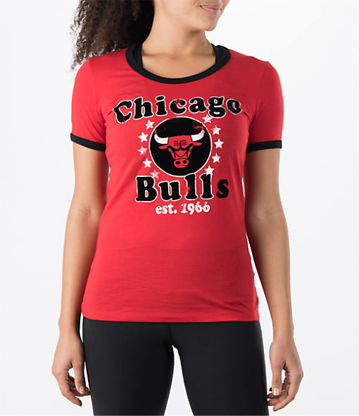 Women's New Era Chicago Bulls NBA Vintage Ringer T-Shirt