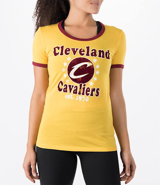 Women's New Era Cleveland Cavaliers NBA Vintage Ringer T-Shirt