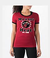 Women's New Era Miami Heat NBA Vintage Ringer T-Shirt