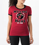 Women's New Era Miami Heat NBA Vintage Ringer T-Shirt