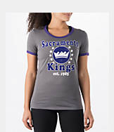 Women's New Era Sacramento Kings NBA Vintage Ringer T-Shirt