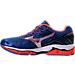 Left view of Women's Mizuno Wave Enigma 6 Running Shoes in Blue/Orange