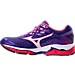 Left view of Women's Mizuno Wave Enigma 6 Running Shoes in Purple/Coral