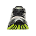 Front view of Men's Mizuno Wave Prophecy 6 Runnning Shoes in High Rise/Black/Lime Punch