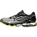 Left view of Men's Mizuno Wave Prophecy 6 Runnning Shoes in High Rise/Black/Lime Punch