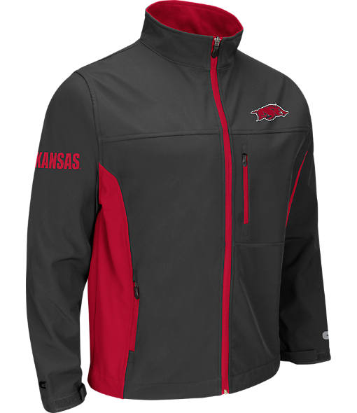 Men's Stadium Arkansas Razorbacks College Yukon II Softshell Full-Zip Jacket