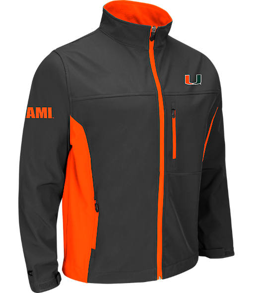 Men's Stadium Miami Hurricanes College Yukon II Softshell Full-Zip Jacket