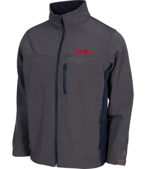 Men's Stadium Ole Miss Rebels College Yukon II Softshell Full-Zip Jacket