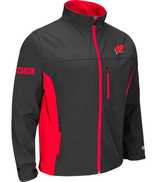 Men's Stadium Wisconsin Badgers College Yukon II Softshell Full-Zip Jacket