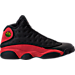 Right view of Men's Air Jordan Retro 13 Basketball Shoes in Black/True Red/White