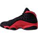 Left view of Men's Air Jordan Retro 13 Basketball Shoes in Black/True Red/White