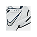 Front view of Men's Nike Air Monarch IV Training Shoes in White/Metallic Silver/Mid-Navy