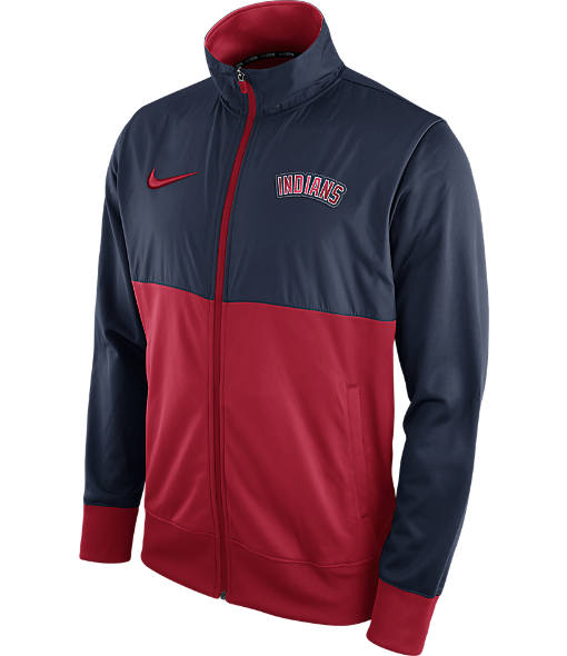 Men's Nike Cleveland Indians MLB Full-Zip Track Jacket