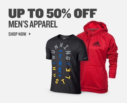 Men's Apparel Up to 50% Off. Shop Now.