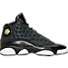 Right view of Girls' Grade School Air Jordan Retro 13 Basketball Shoes in Black/Anthracite/Hyper Pink