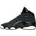 Left view of Girls' Grade School Air Jordan Retro 13 Basketball Shoes in Black/Anthracite/Hyper Pink