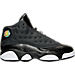 Right view of Girls' Preschool Jordan Retro 13 Basketball Shoes in Black/Anthracite/Hyper Pink