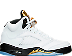 Boys' Grade School Air Jordan 5 Retro Basketball Shoes