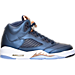 Right view of Boys' Grade School Air Jordan 5 Retro Basketball Shoes in Obsidian/White/Metallic Red Bronze