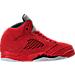 Right view of Boys' Preschool Jordan 5 Retro Basketball Shoes in University Red/Black